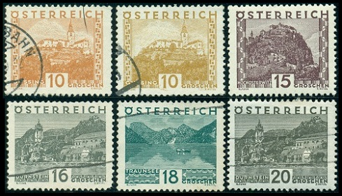 Austria Stamps Issues Of 1929 1932