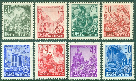 picture regarding Printable Postage Stamps named DDR - Definitives of 1953-1959 (5 12 months Program)