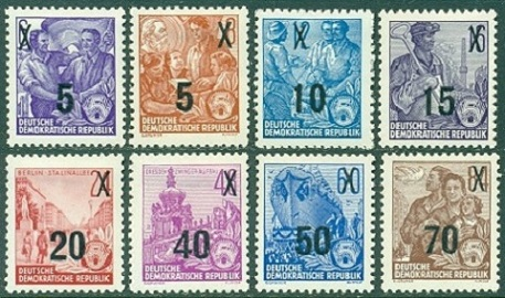Ddr Definitives Of 1953 1959 Five Year Plan