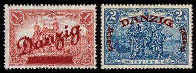 01 М. (1920 - Mi. # 48, Sc. # 47) - Кармин.02 М. (1920 - Mi. # 49, Sc. # 48) - Серо-синий.