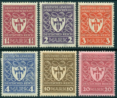 weimar republic commemorative issues 1919 1923. Black Bedroom Furniture Sets. Home Design Ideas