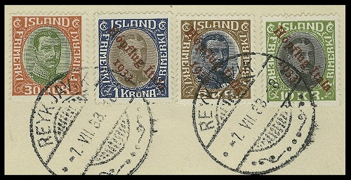 Iceland Stamps - Airmail Stamps of 1928-1959