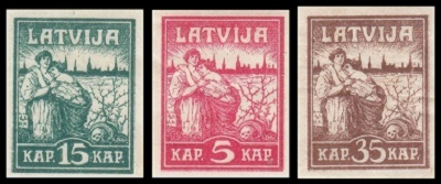 Latvian Stamps - Issues of 1918-1919