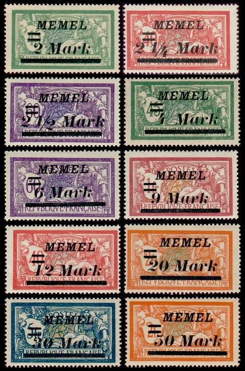 Memel Territory Issues Of 1922 1923