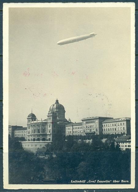 Swiss Stamps - Graf Zeppelin Flight 1929