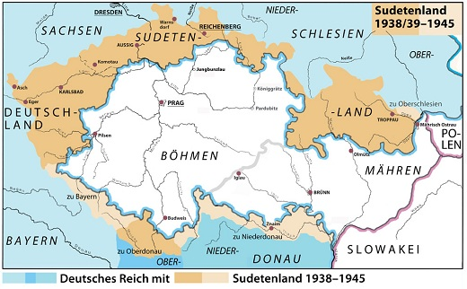 Sudeten Mountains Map