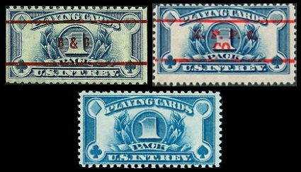 The Wide Format Non Denominated Major Type Playing Cards US Revenue Stamps Shown Above Were Issued In 1940 Central Design Of These New Is