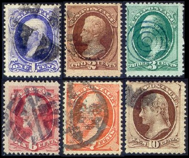 The US Classic Stamps Shown In Images Above Were Printed By National Banknote Co Beginning April 1870 These On Hard