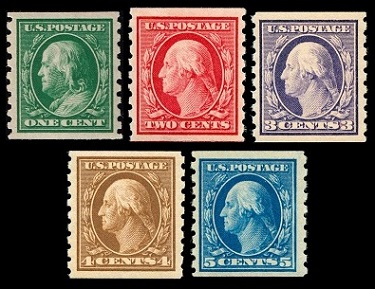 Us Stamps General Issues Of 1910 1914