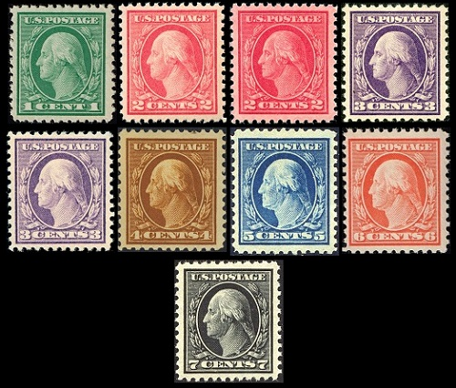 Us Stamps General Issues Of 1917 1922