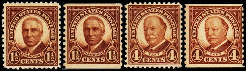 In 1930 The 1 2 Cent And 4 Denominations Of Fourth Bureau Issue Were Replaced With New Stamps These Rotary Press US Issued Both