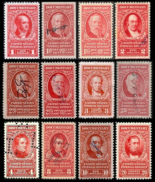 US Documentary Stamps Of 1940 1963