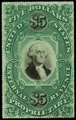 Like The Two 1871 US Internal Revenue High Denomination Stamps Second Issue Proprietary Stamp Is Also Referred To As One Of