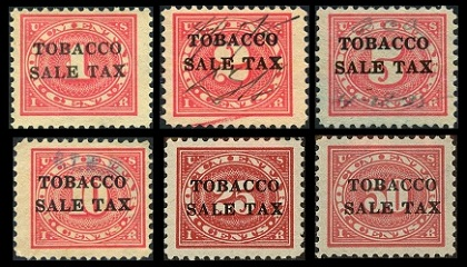Us Revenue Stamps Tobbaco Tax Stamps