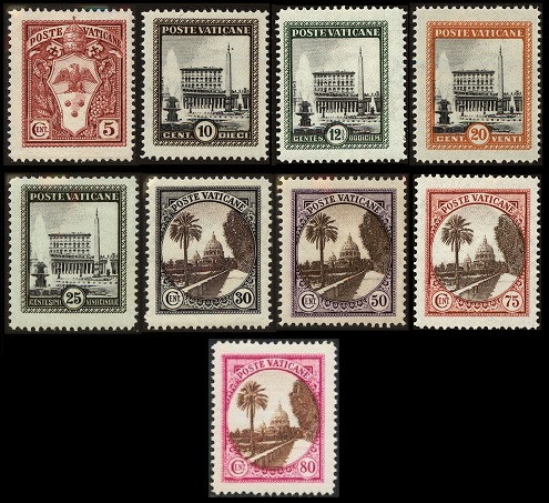 Vatican Stamps - Issues of 1929-1934
